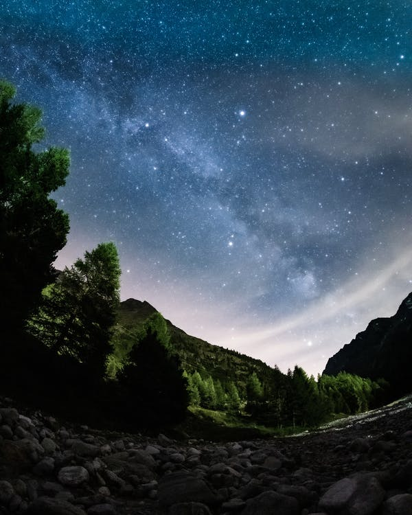 Scenic Photo Of Starry Night Sky