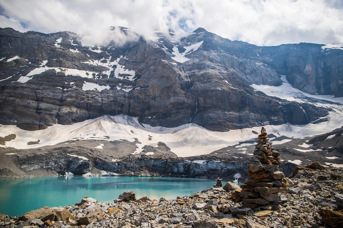 acqua, alberi, alpi