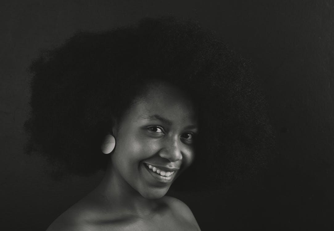 afro, afroamerikaner-frau, augen