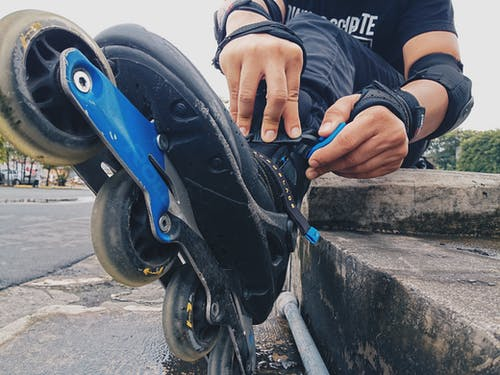 Foto stok gratis roller blade, roller skate, sepatu roda