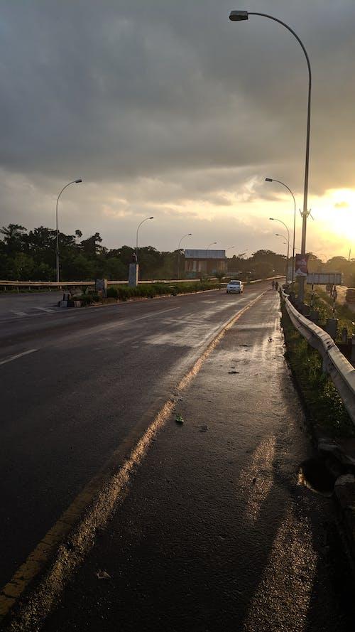 Imagine de stoc gratuită din autostradă, drum, drum liber, drum umed