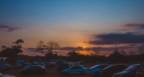 Free stock photo of Beautiful sunset, beauty in nature, carpark