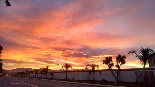 Photos gratuites de lever de soleil, nuages, nuages rouges