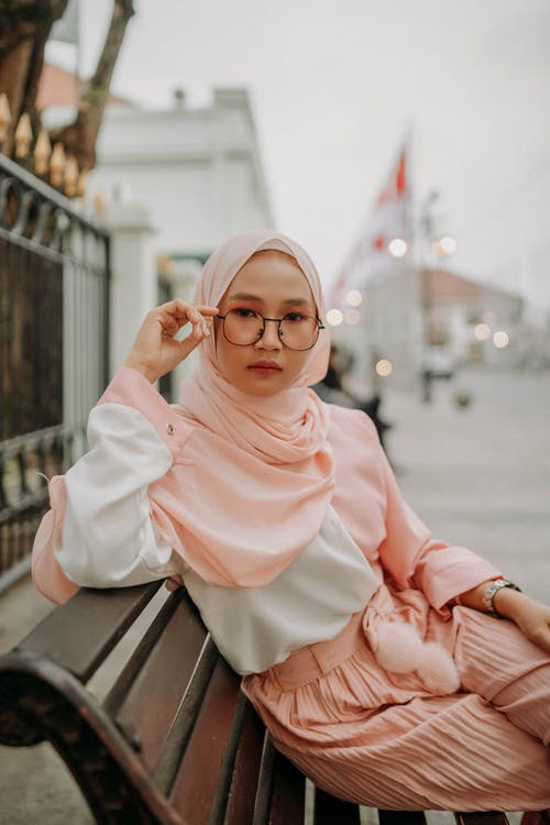 Photo of Woman Wearing Pink Hijab