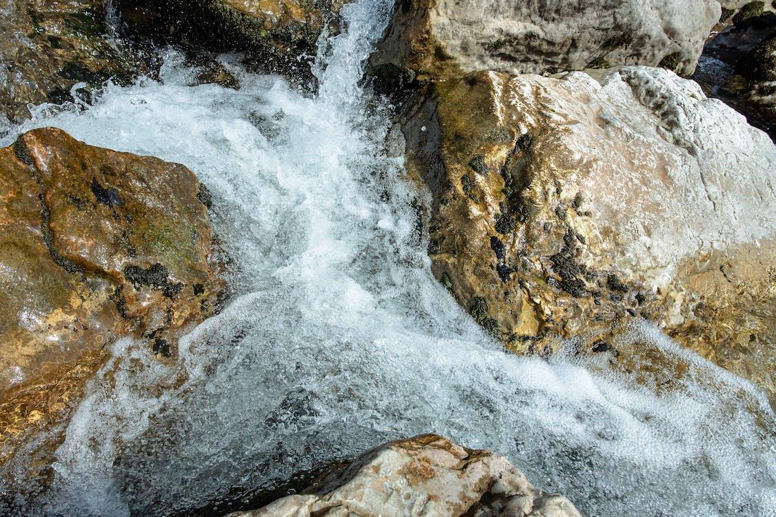 rock, rzeka, skała