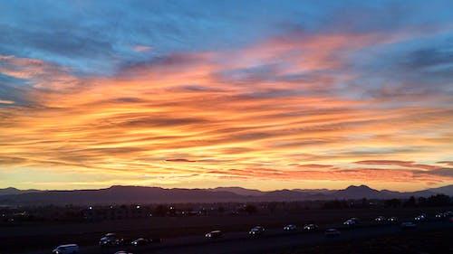 Photos gratuites de faire la navette, lever de soleil, nuages