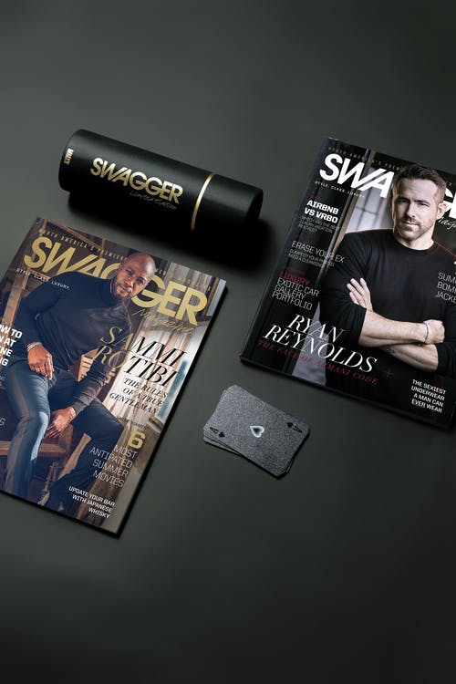 Free stock photo of design, iphone, isometric, magazines