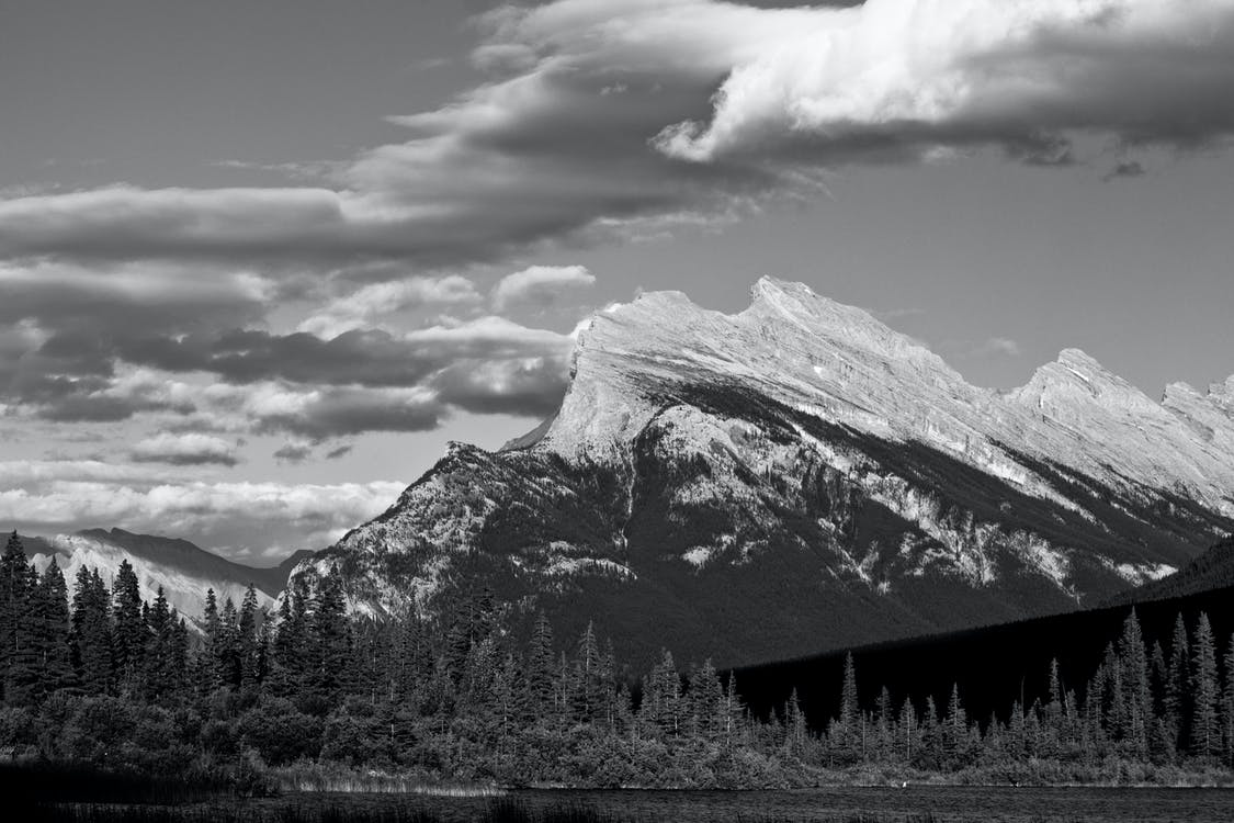 B&W Mountain, banff, mountain