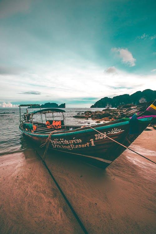 Photos gratuites de bateau, bois, bord de mer, ciel