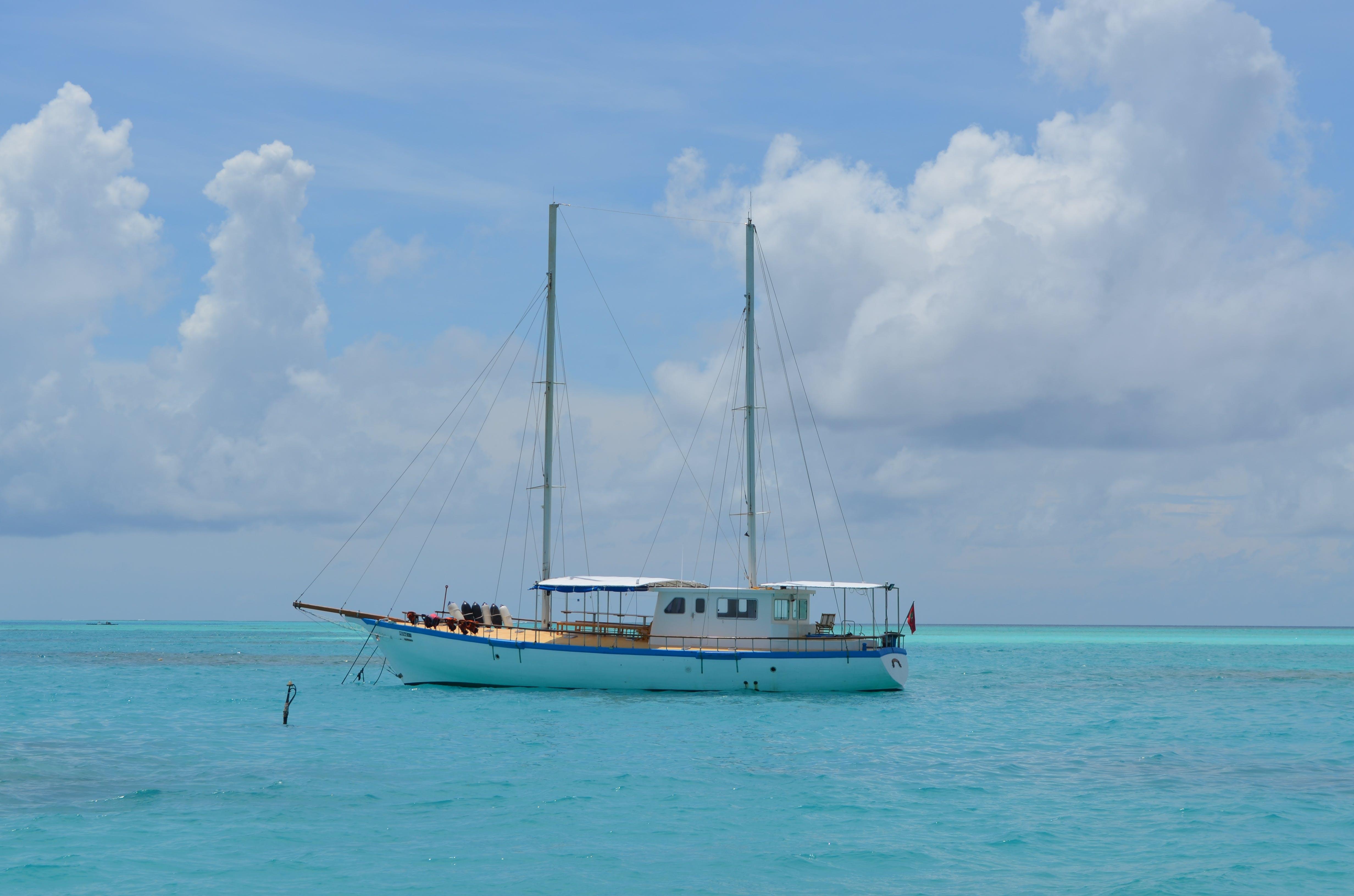 คลังภาพถ่ายฟรี ของ มหาสมุทร, มัลดีฟส์, สีน้ำเงิน, เมฆ