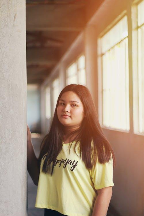Photo Of Girl Wearing Yellow Shirt