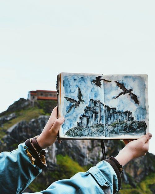 Ingyenes stockfotó fiók, kirándulás, rajz, szépség a természetben témában