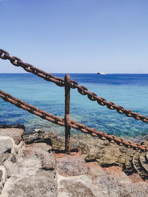 海, 鎖の無料の写真素材