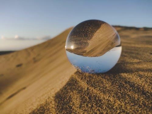ボール, 球体, 砂丘, 鏡の無料の写真素材