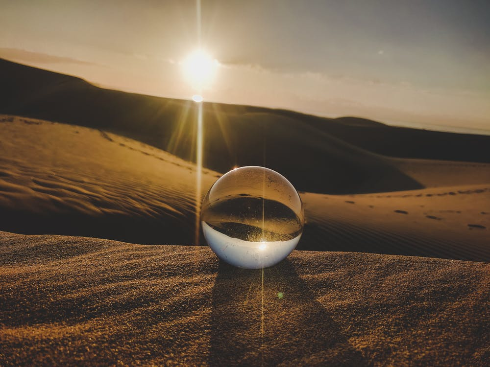 Crystal Ball Photography on Desert