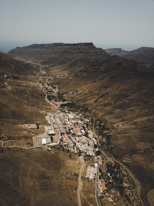 砂漠の谷の無料の写真素材