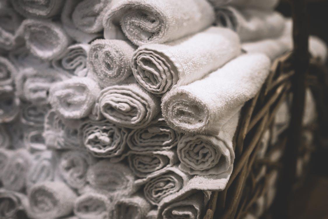 捲起來, 樣式, 毛巾