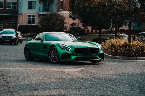 Free stock photo of #car, #carbonfiber, #green, #mercedes