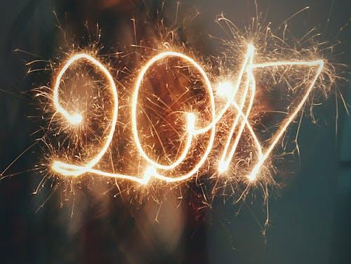 2017年, 危險, 數字, 明亮 的 免费素材照片