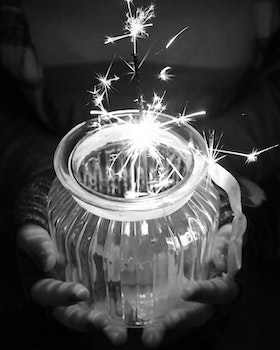 Free stock photo of hands, sparkler, holding, new year