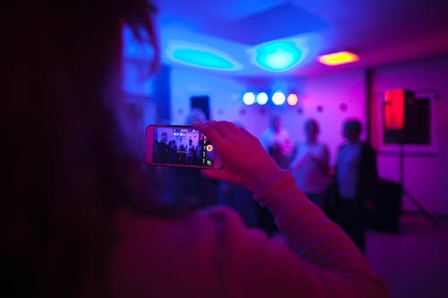 Free stock photo of cell phone, lights, party