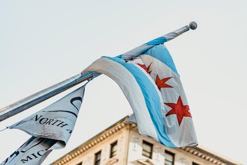 คลังภาพถ่ายฟรี ของ ชิคาโก, ธง, เมือง