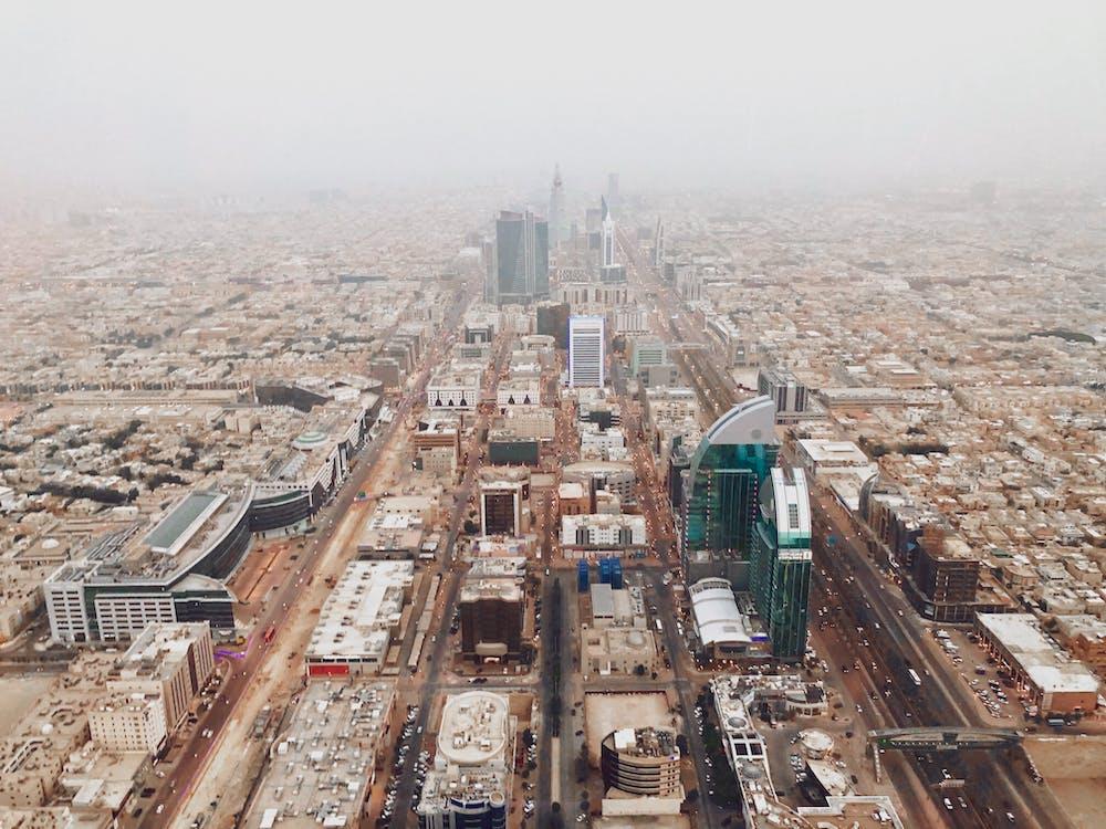 Aerial Fooge of a  City