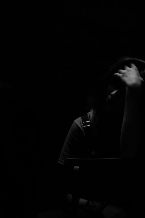 Schattenbildfoto Einer Person