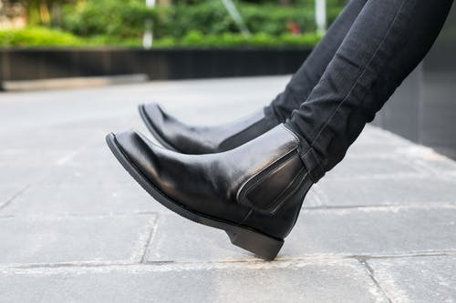 Photo Of Pair of Black Leather Shoes