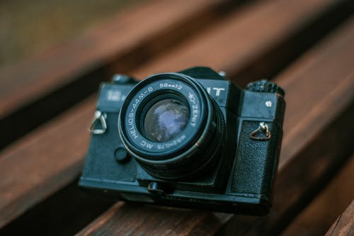 Free stock photo of black camera, old camera, russia, vintage