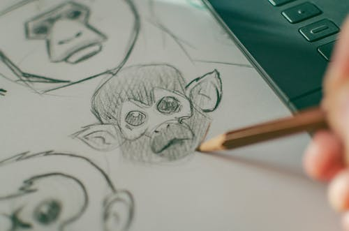 Monkey Head Sketch