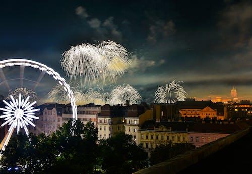 Imagine de stoc gratuită din apus, arhitectură, artificii, clădiri