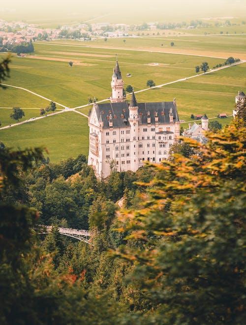 下落, 別墅, 地標, 城堡 的 免费素材照片