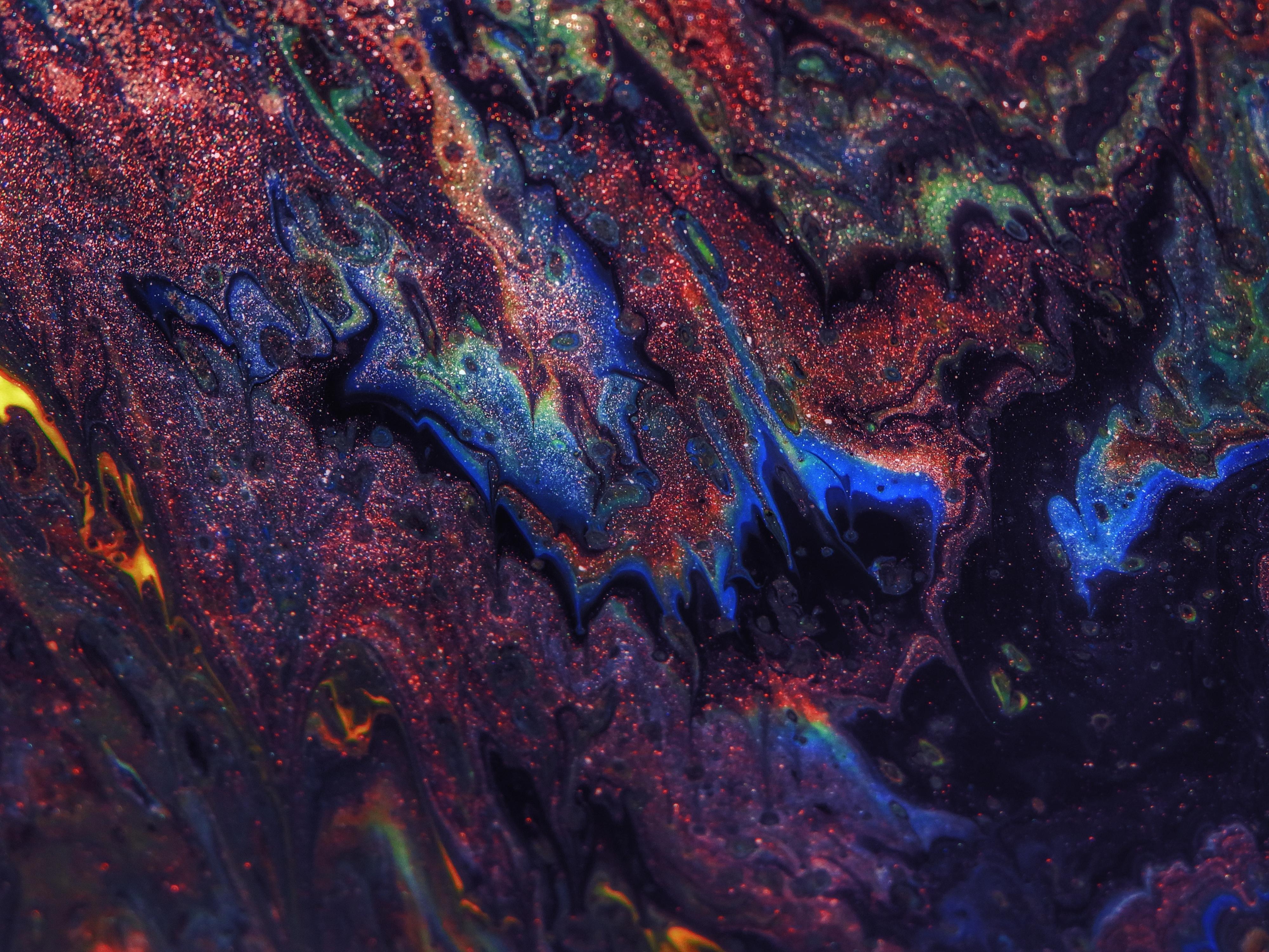 Photo of multicolored illustration