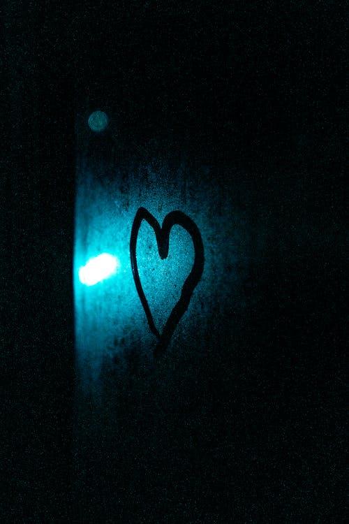Free stock photo of heart, love, love heart, neon art