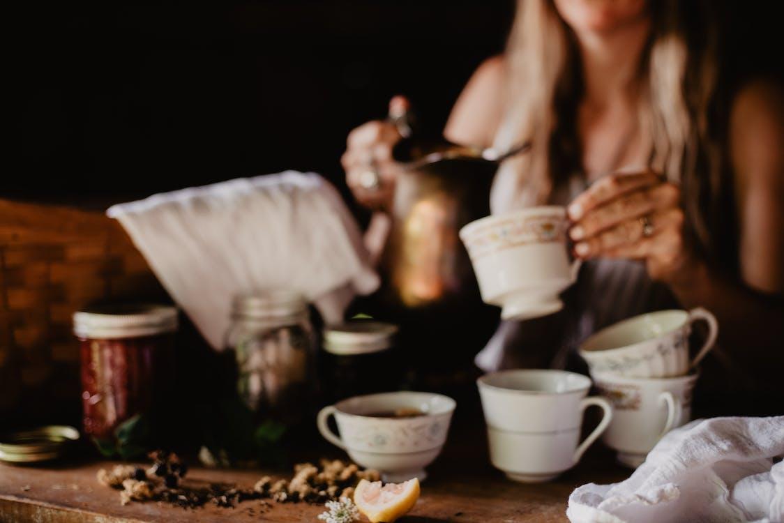bình minh, bữa ăn sáng, cà phê