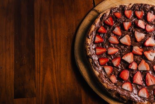 Foto d'estoc gratuïta de maduixa, menjar, nutella, pizza