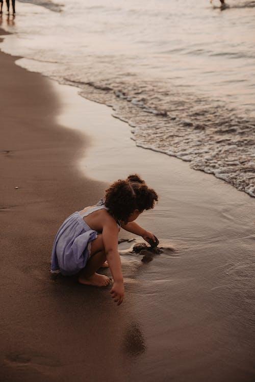 놀이, 모래, 물, 소녀의 무료 스톡 사진
