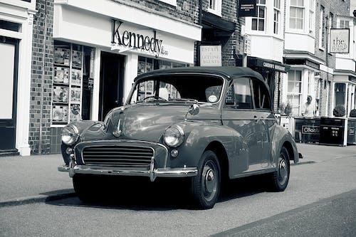 Immagine gratuita di auto classica, britannico, fotografia del veicolo, morris minor 1000