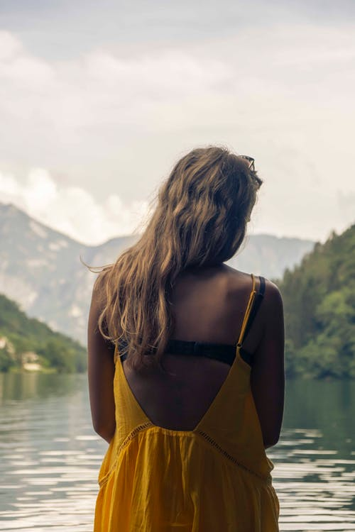 Free stock photo of alone, back, blonde, dreamy