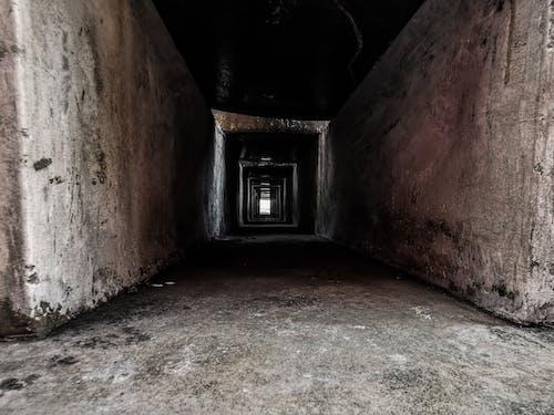 Free stock photo of aisle, asymmetry, dark, floor