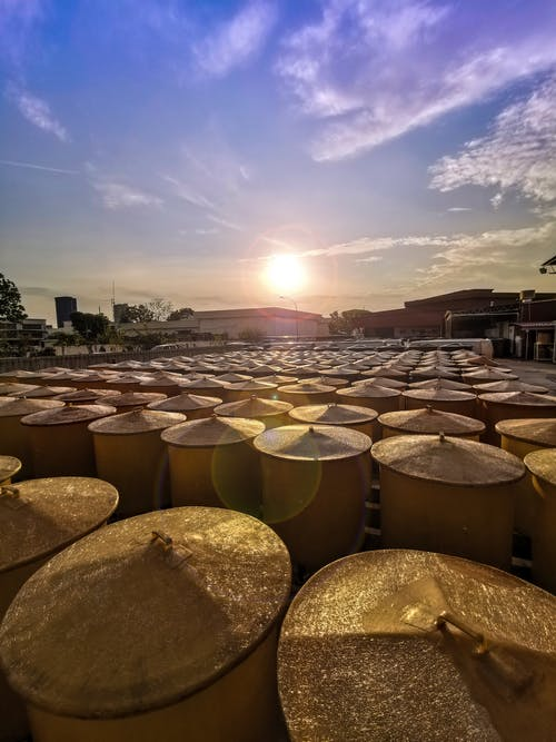 Free stock photo of barrels, business, commerce, factory