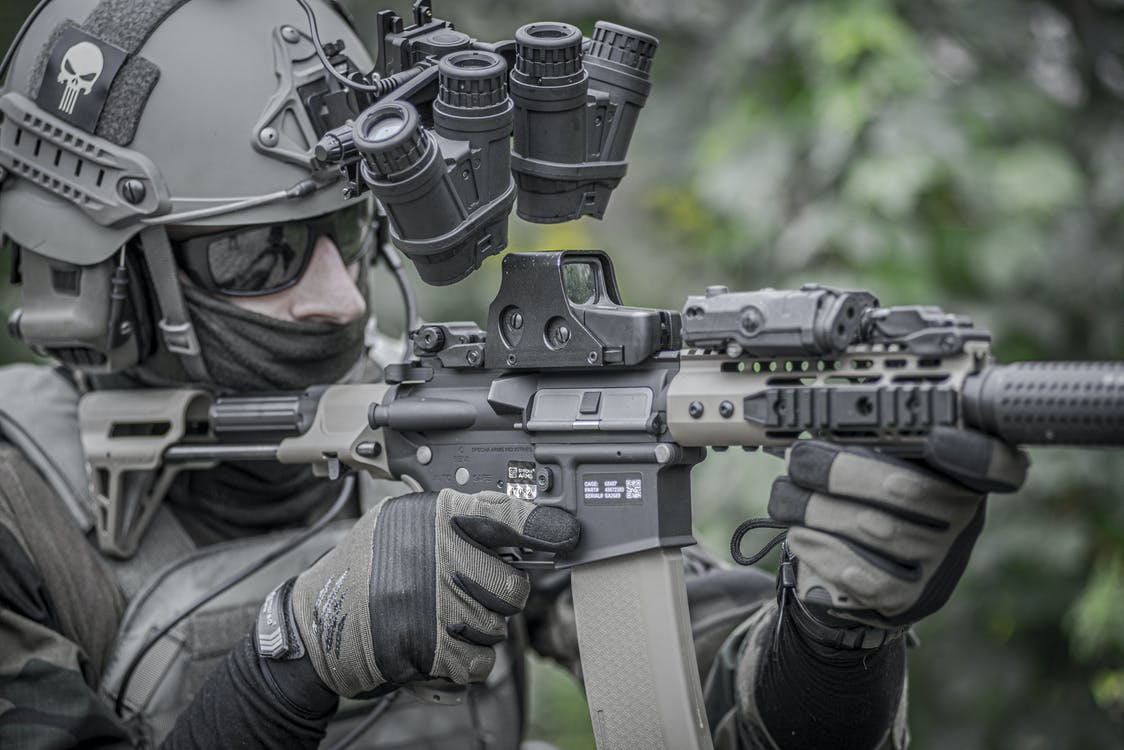 Free stock photo of aiming, airsoft, airsoft replica