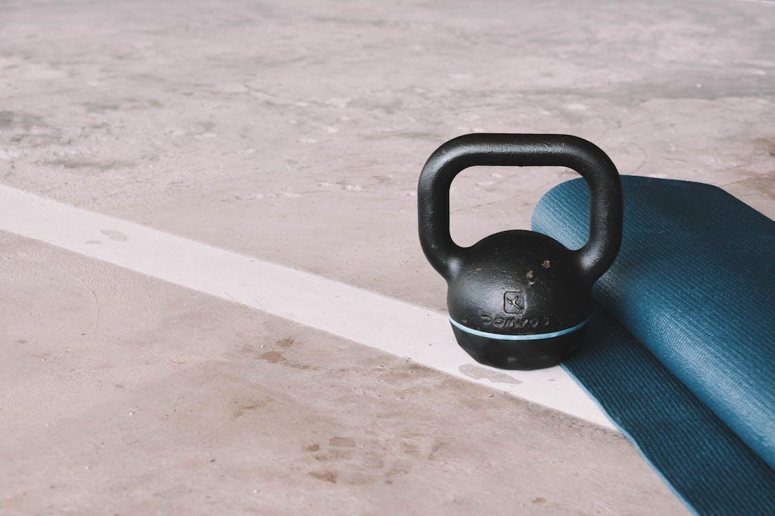 Kettlebell And Yoga Mat