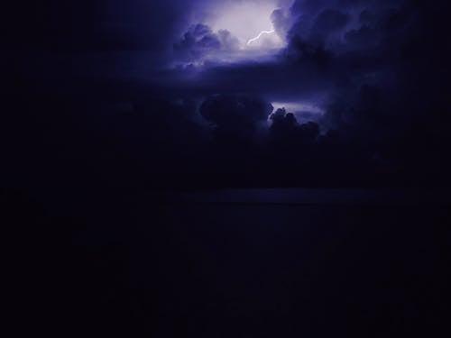 뇌우, 대서양, 바닷가, 밤하늘의 무료 스톡 사진