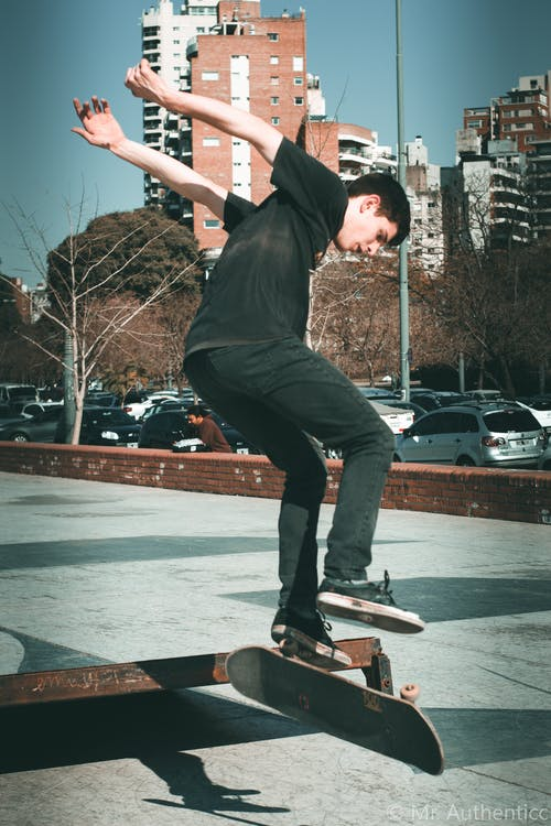 Free stock photo of skate skateboarding sport park