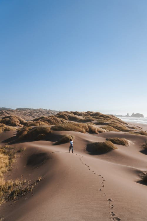 Photo Of Person Walking In Dessert