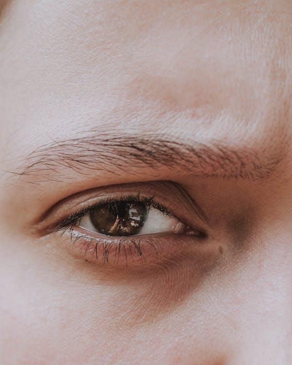 človek, detailný záber, dúhovka