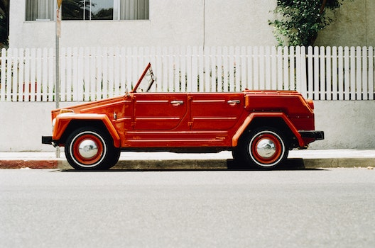 Free stock photo of red, car, vintage, old