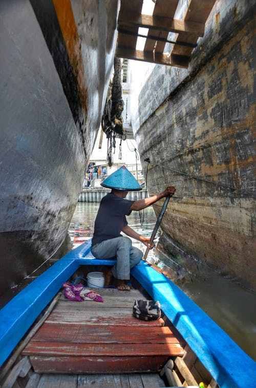 Ingyenes stockfotó evez, hajóm csónak, indonéz, kék témában